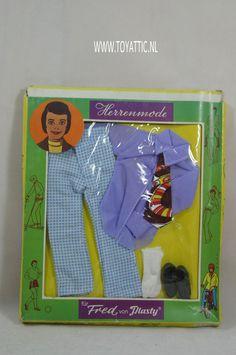 Barbie ken sized fashion fur Fred von Plasty no. 5876 NRFB clone fashion #plasty