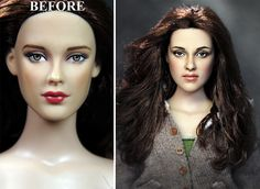 NoelCruzBeforeandAfter OOAK Inch JENNIFER LAWRENCE - Artist repaints disney princesses to look more realistic with amazing results