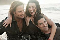 """Without these guys the addictive TV series """"Lost"""" could never be found, Evangeline Lilly, Mathew Fox and Josh Holloway."""