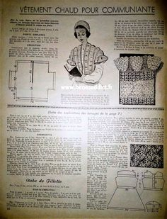 """""""Mon Ouvrage 1950"""" 33 patrons gratuits COUTURE, TRICOT, CROCHET Vintage Patterns, Sewing Patterns, Personalized Items, Knitting, Retro, Projects, 1950s, Clothes, Ganchillo"""