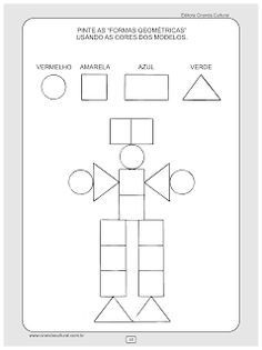 Arbeitsblätter für kinder zum ausdrucken. Geometrischen Formen 28 ...