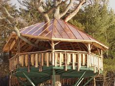 Copper roof Copper Awning, Copper Roof, Metal Roof, Wood Router, Woodworking Wood, Chimney Cap, Window Planters, Cool Tree Houses, Big Tree