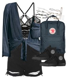 """Outfit for university with converse"" by ferned on Polyvore featuring Topshop, ELSE, Free People, Fjällräven, Converse and Boohoo"