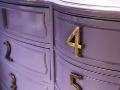 How to Update a Dresser With House Numbers : Decorating : Home & Garden Television