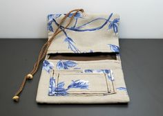 Print Fabric Tobacco Case Handmade Tobacco Pouch by DumbbellNebula