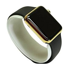 Orologio smart Apple Watch, 42 mm, fascia sportiva, Nero, cassa in acciaio inox e chiusura con oro 24 carati: Amazon.it: Elettronica