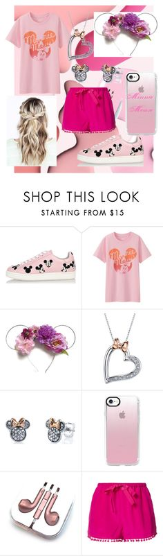 """""""Minnie Mouse"""" by bakercakes ❤ liked on Polyvore featuring MOA Master of Arts, Uniqlo, Disney, Casetify, PhunkeeTree and Figue"""