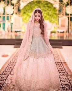 pretty bride dress for wedding 2019 Pakistani Wedding Dresses, Pakistani Dress Design, Indian Dresses, Indian Outfits, Anarkali, Lehenga Choli, Sari, Sharara, Bridal Lehenga
