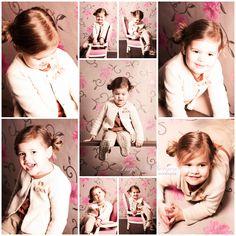 Kids photography Maud cute girl vintage portrait