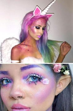 Disfraces de Carnaval para niños fáciles de hacer 2017 Halloween 2017, Halloween Nails, Halloween Make Up, Halloween Party, Halloween Costumes, Halloween Face Makeup, Make Unicornio, Hobbies For Women, Maquillage Halloween