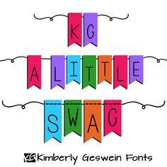 KG A Little Swag Font | dafont.com