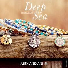 What better way to represent the beauty of summer than with #AlexAndAni #bracelets. #bangles