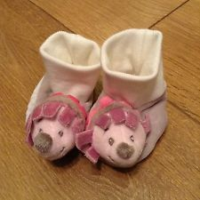 Baby rattle shoes (0-6 months /3-6 months) hedgehog girls pink purple