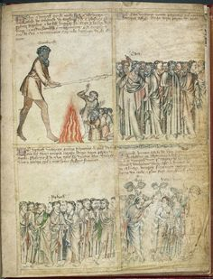 From the Medieval Manuscripts blog post 'A Medieval Comic Strip'.