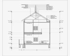 Contoh Gambar Potongan Rumah Minimalis menggunakan Autocad - Griya Bagus Autocad, House Plans, Floor Plans, Woodworking, House Design, Gandhi, Architecture, Interior, Industrial