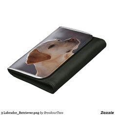 3 Labrador_Retriever.png Leather Wallet For Women