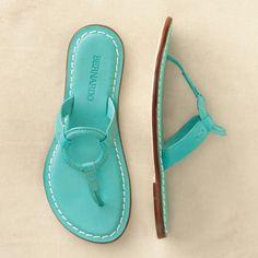 Bernardo Matrix Sandals, in turquoise (spotted @ travelsmith.com)