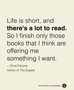 "Chris Pavone, author of ""The Expats,"" gives some good advice to a reader on Goodreads! Ask your favorite authors a question with #AskTheAuthor"