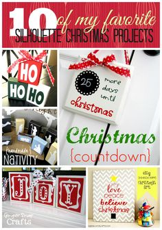 10 of Silhouette Christmas Projects & Silhouette Cameo