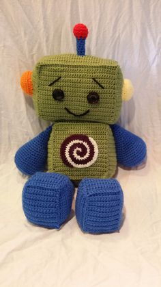 Happy Little Robot Crochet Pattern by McReimanDesigns on Etsy