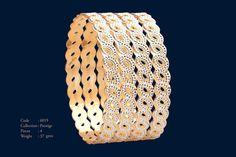 Stylish Jewelry, Modern Jewelry, Silver Jewelry, Gold Bangles Design, Jewelry Design, Gold Bracelets, Gold Necklace, Cow Skull, Latest Jewellery