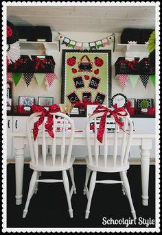 Schoolgirl_Style Ladybug theme 4 Classroom Setting, Classroom Design, Future Classroom, Classroom Themes, Classroom Organization, Clean Classroom, Apple Classroom, Classroom Management, Lady Bug