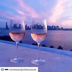 #happyhour #goals #rosé #Repost @romeoandjulietcouture with @repostapp.  Cotton Candy Skies  #RomeoAndJulietCouture #Vacation #Wine #sunset #love #fashion #fashionista #style #stylist #purple #pink #sky #view #skyporn #sunset #pretty #beautiful #ootd #city #water by brooklynandwest