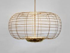 """The Cage Brass Pendant Fixture 45"""" W x 28""""H Custom Sizes Available Approximate Lead Time 10-12 Weeks"""