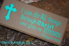 Bible Verse Phrase  I Can Do All Things by SimpleBlessingsNLife, $25.00