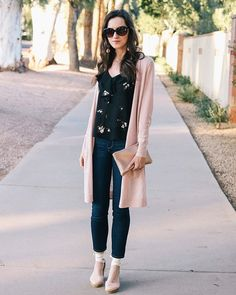 This cardigan has quickly become my new wardrobe staple and comes in so many colors! Its only $68 and Im sharing more details in todays new blog post  #wardrobebasics #neutrals #blushpink
