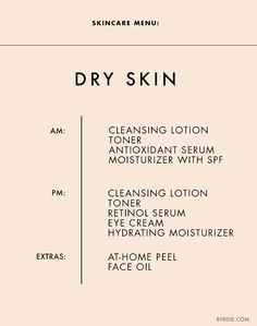 Love this handy chart from @ByrdieBeauty. Find what's right for your skin type here.