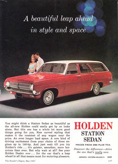 Holden Muscle Cars, Aussie Muscle Cars, Australian Vintage, Australian Cars, Vintage Advertisements, Vintage Ads, Holden Caprice, Holden Wagon, Holden Australia