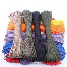 PARACORD 550 TYPE III  https://continuumprepper.com/collections/build-a-bug-out-bag/products/yooupara-250-colors-paracord-550-rope-type-iii-7-stand-100ft-50ft-paracord-parachute-cord-rope-survival-kit-wholesale