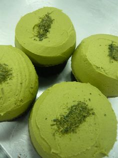Green tea cupcakes!  We have been pining for something extra-ordinary