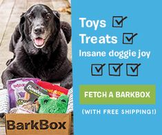 BarkBox is a subscription service for dog 'parents' who truly love to spoil their pups. Sign up & get a box of hand-selected dog toys, treats & products delivered to your door each month. 10% of proceeds are donated to local animal shelters.