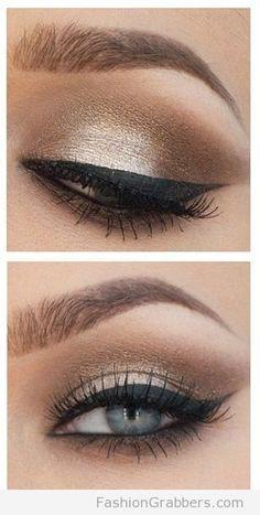 golden holiday eye makeup
