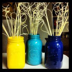 mason jars painted inside