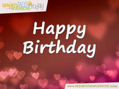 Geburtstagsgrüße mit Herzen