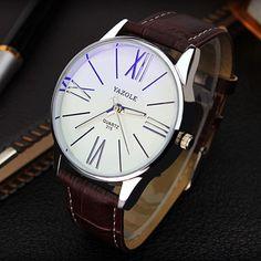 2016 YAZOLE luxury brand quartz watch Casual Fashion Leather watches reloj masculino men watch shipping Sports Wristwatch