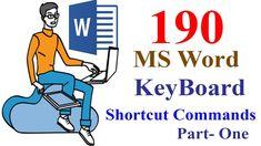 190 MS Word Keyboard Shortcuts A To Z _Tutorial Bangla_১৯০ টি এমএস ওয়ার্...