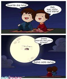 """""""Dicono che il cielo ci regalerà una super luna come non si vedeva dal 1948 e che non rivedremo fino al 2034. Per le nonne invece resterà comunque sciupata! """" #superluna #curvy by Lorenza Di Sepio Simple&Madama   ps. da notare il volto delle nuvolette :D - http://ift.tt/1HQJd81"""