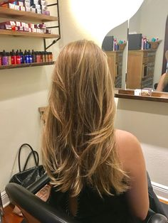 Full highlights and long layers in Austin TX with stylist Sovay Reeder. Salon Sovay next door. Dying Hair Blonde, Dark Blonde Hair Color, Brown Hair With Blonde Highlights, Honey Blonde Hair, Blonde Hair Looks, Full Highlights, Dyed Hair, Cut My Hair, Hair Cuts