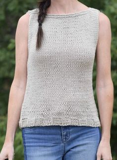 Free Knitting Pattern for Easiest Classic Top