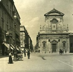 Italy Roma Via del Tritone Church S Maria Old NPG Stereo Photo 1900