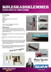 DIY Recycled clothespins as organizers when turned into refrigerator magnets, Silvan Hacks by Anna Karnov