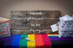 Rainbow wedding decor   Ohio Rainbow-Themed Gay Wedding   Equally Wed - LGBTQ Weddings