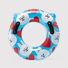 LINE FRIENDS CONY Rabbit Float Inflatable Swimming Pool Tube Raft with Handles #LINEPLUS