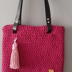 Torebka ze sznurka bawełnianego shopperka Straw Bag, Tote Bag, Crochet, Bags, Handbags, Totes, Ganchillo, Crocheting, Knits