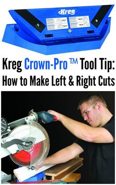 Kreg Tool Tip: Left & Right Cuts with the Kreg Crown-Pro™   Gary Striegler, a second-generation homebuilder with 30+ years of hands-on experience, demonstrates how to properly make left and right cuts with the Kreg Crown-Pro™ in this video.