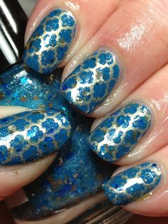 Canadian Nail Fanatic: Another Blue; This Time a Nerd